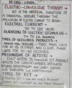 les consignes pour les électrochocs
