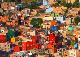 maisons colorées mexique